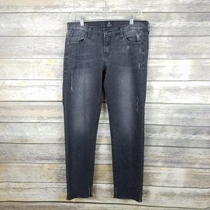 Just Black Made in the USA Distressed Gray Jeans